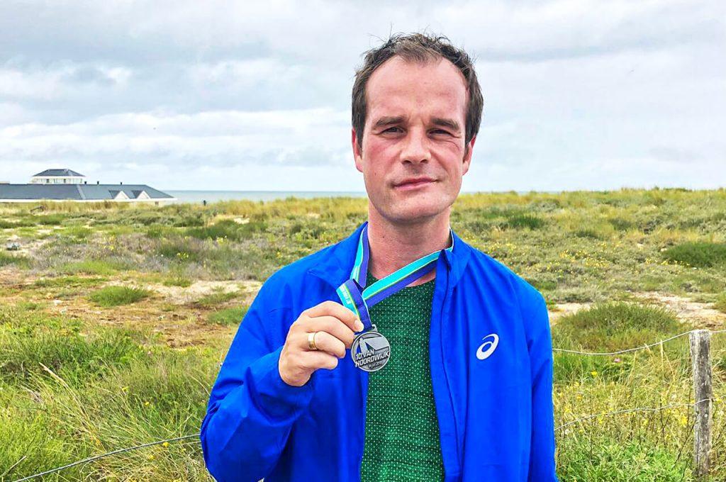 Ik met de medaille van de 10 van Noordwijk