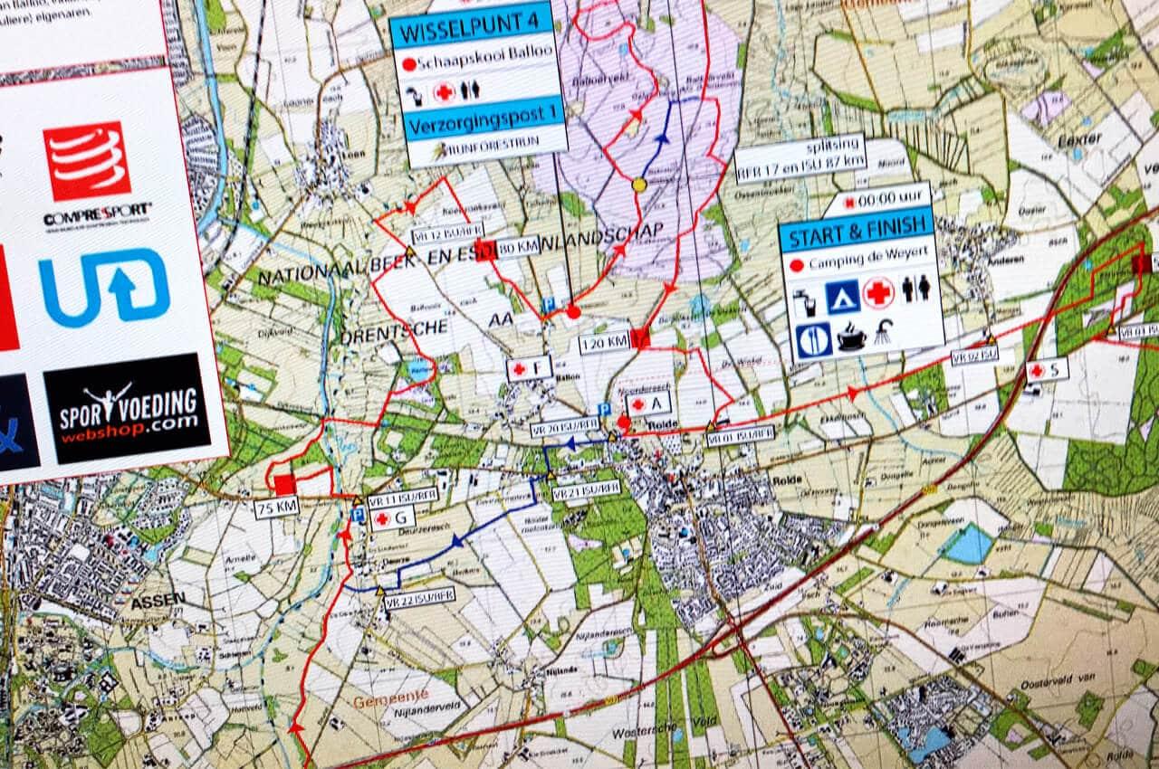 50 km dagboek 4 dagen - parcours uit mijn hoofd leren