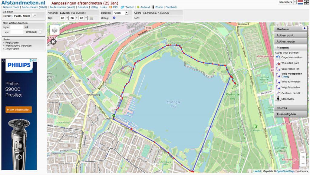 Hoeveel kilometer heb ik gelopen en afstand meten met afstandmeten.nl