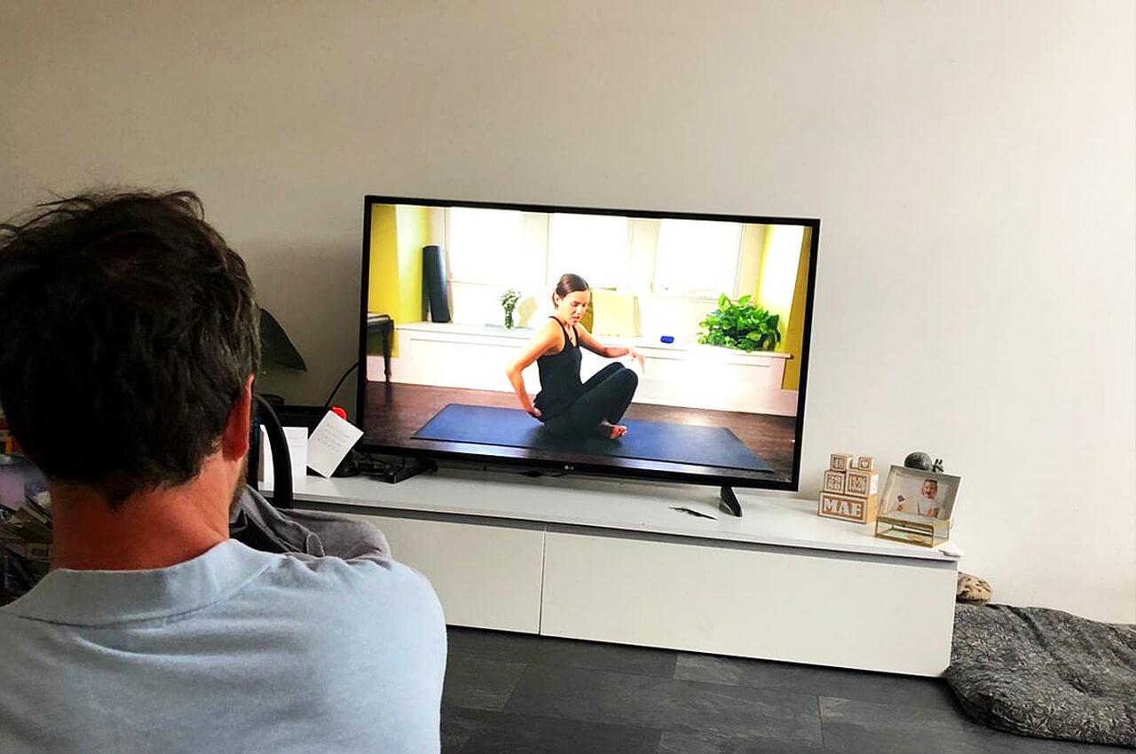 ik ben begonnen met yoga