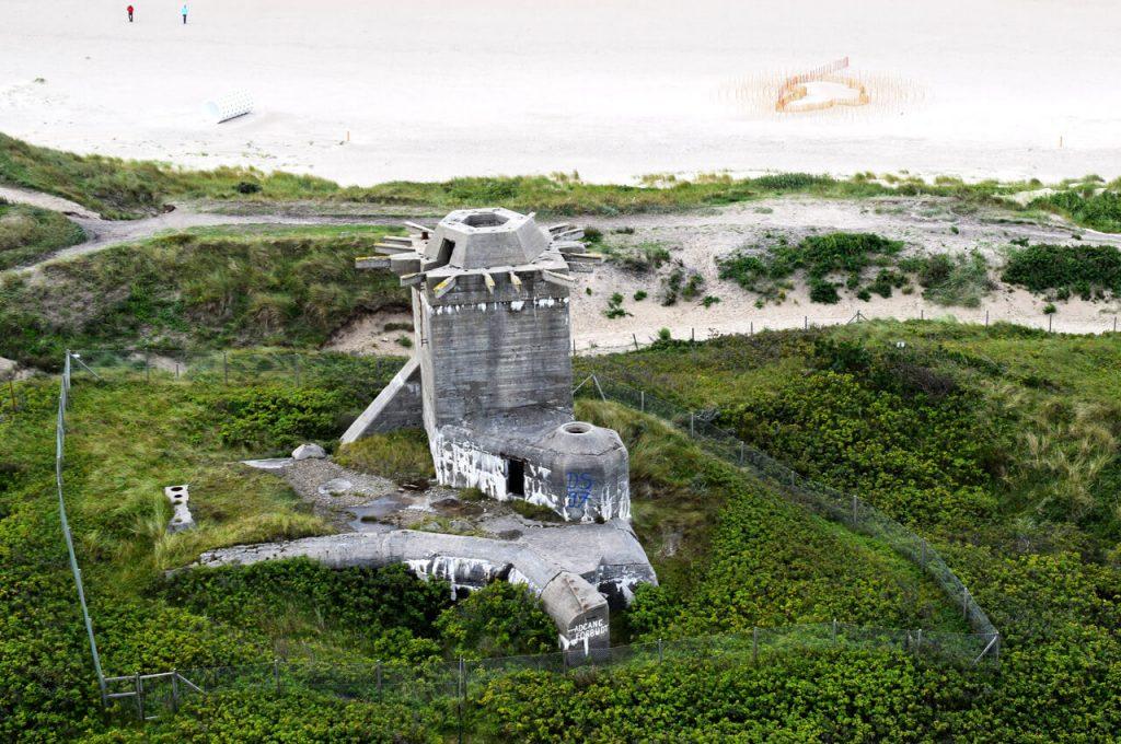 Tweede wereldoorlog bunker op het strand van Blavand