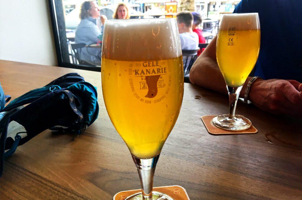 Heerlijk biertje bij de Gele Kanarie