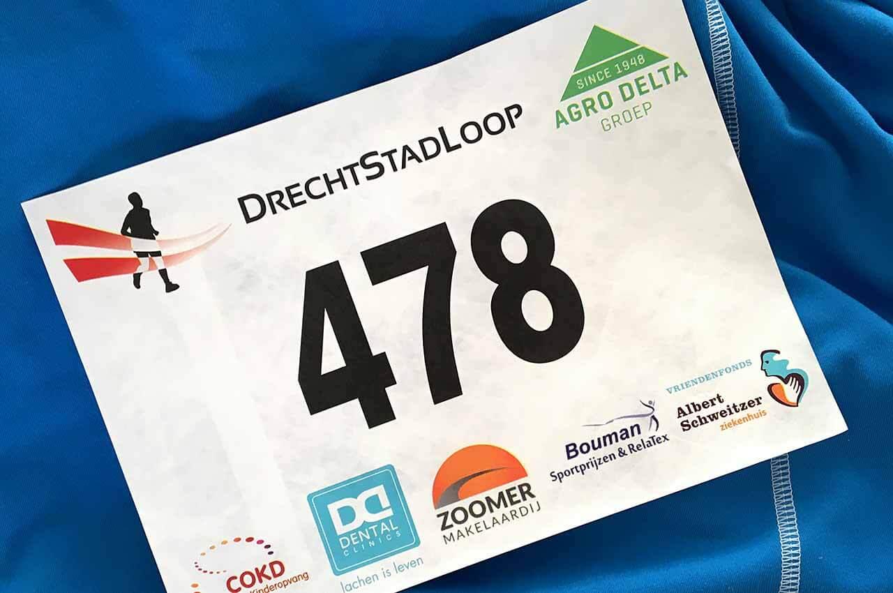 Startnummer van de DrechtStadLoop 2018