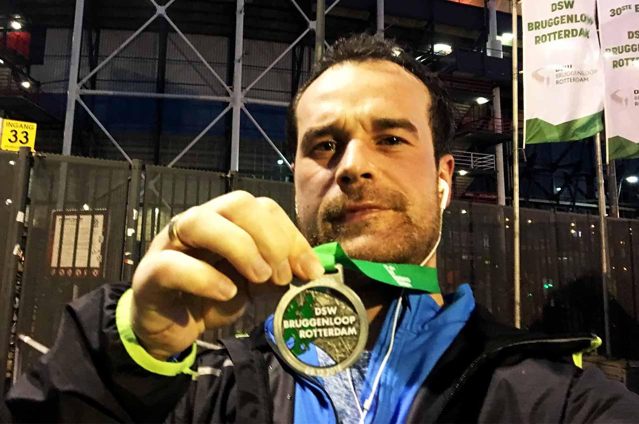 De DSW Bruggenloop 2018 medaille