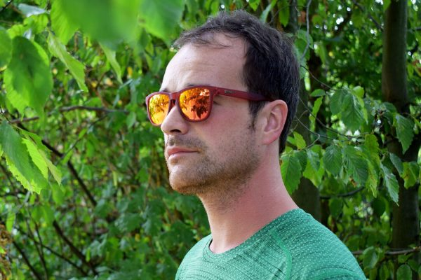 Van de zon aan het genieten met de Goodr hardloop zonnebril