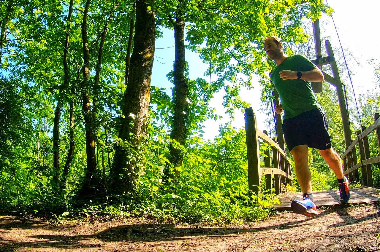 Enkelverzwikking bij het hardlopen