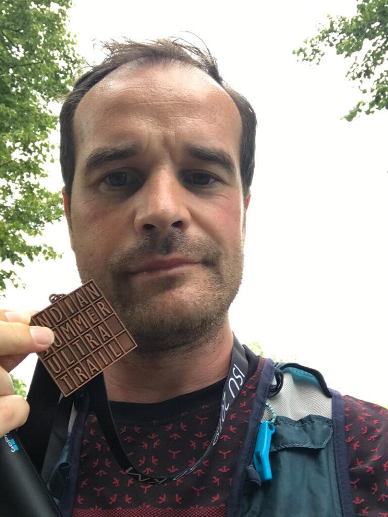 Loop met een eerder verkregen medaille