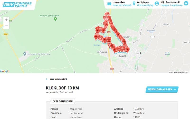 Vind hardlooproutes in de buurt via RunnersWorld