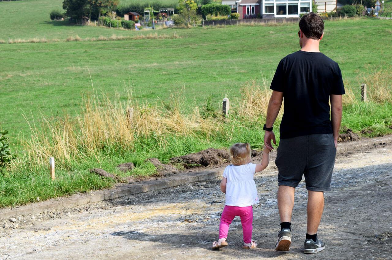 Samen lopen met mijn dochter als kersverse papa