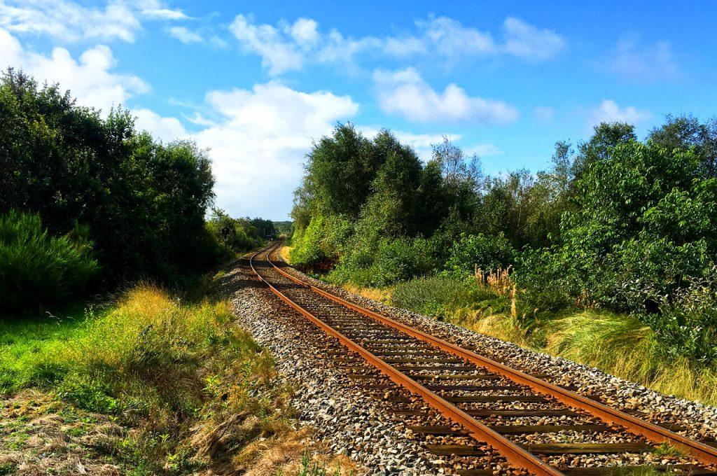 Hardlopen door Denemarken treinspoor