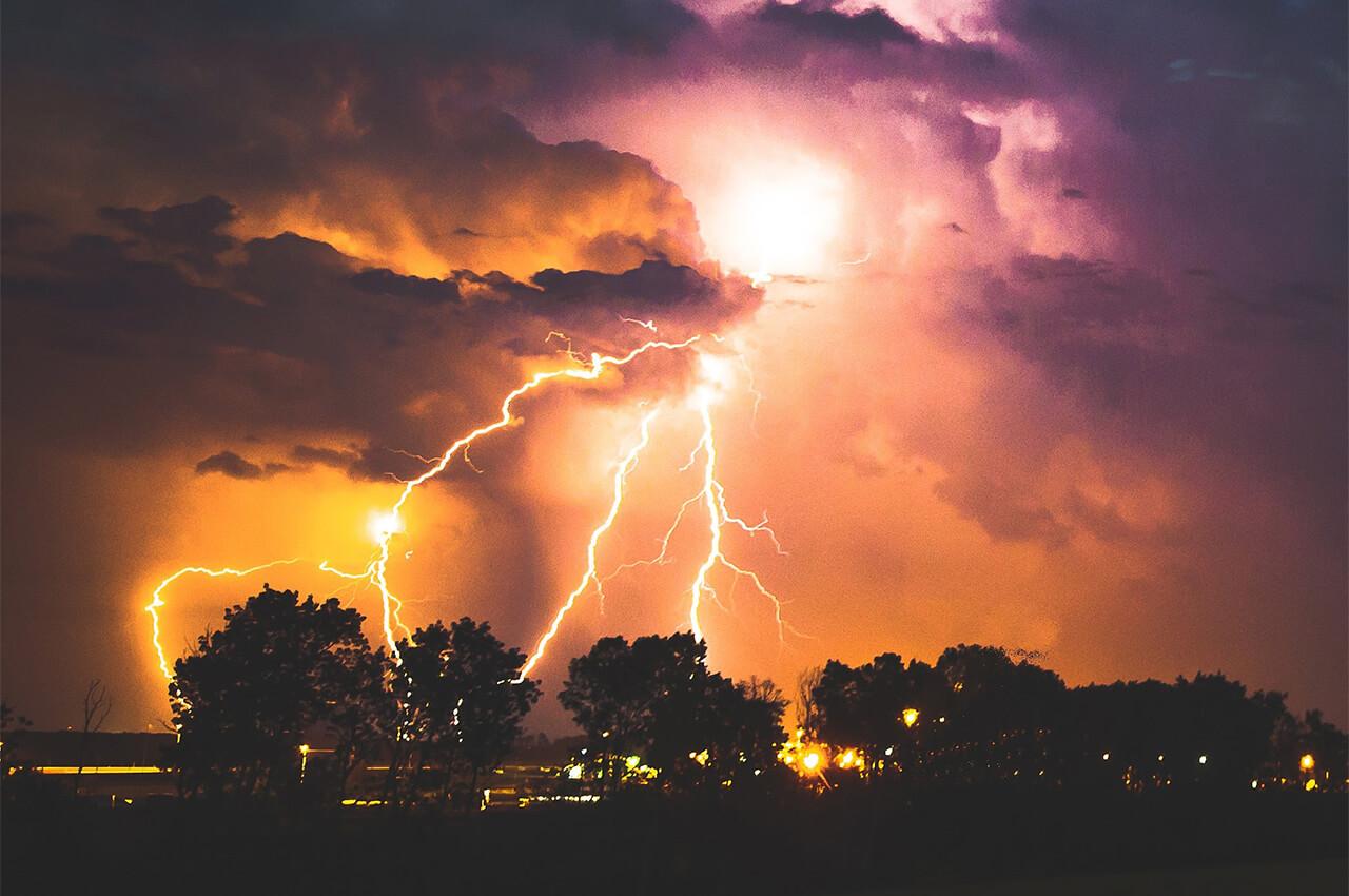 Hardlopen in de onweer