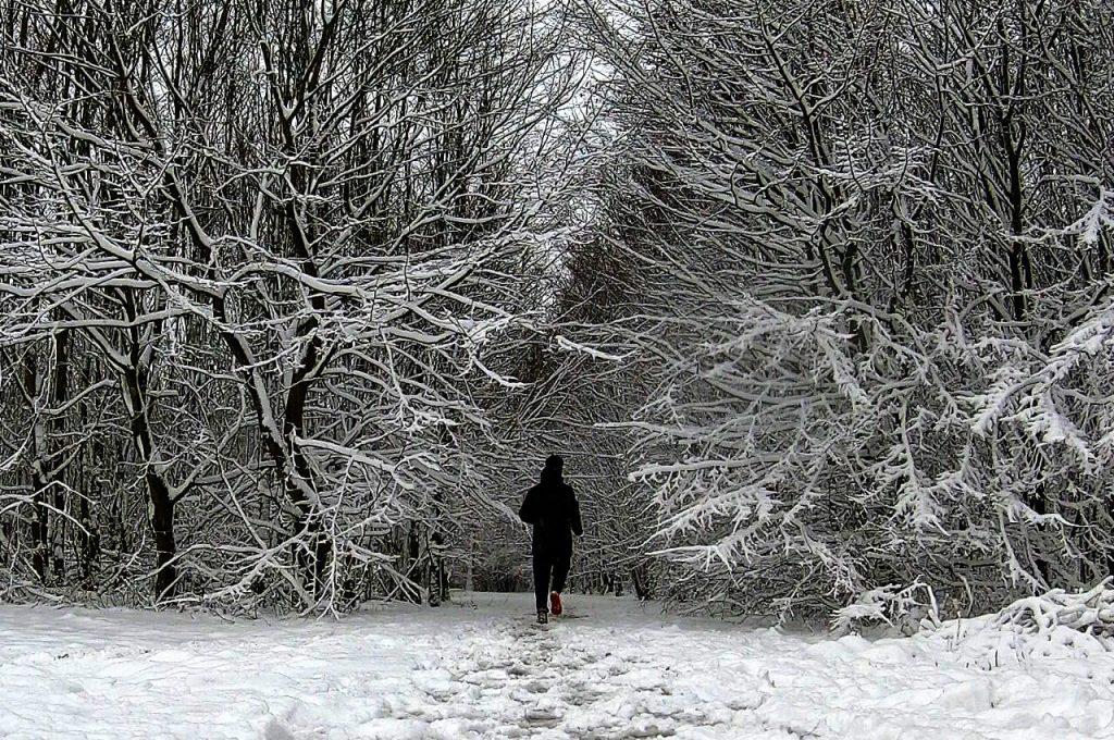 Schitterende omgevingen als je in de sneeuw gaat hardlopen