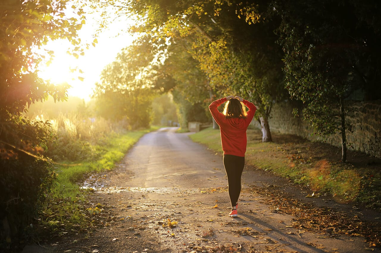hardlopen op een lege maag