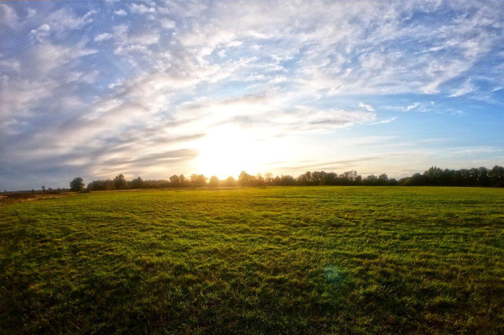 Ondergaande zon tijdens de ISU