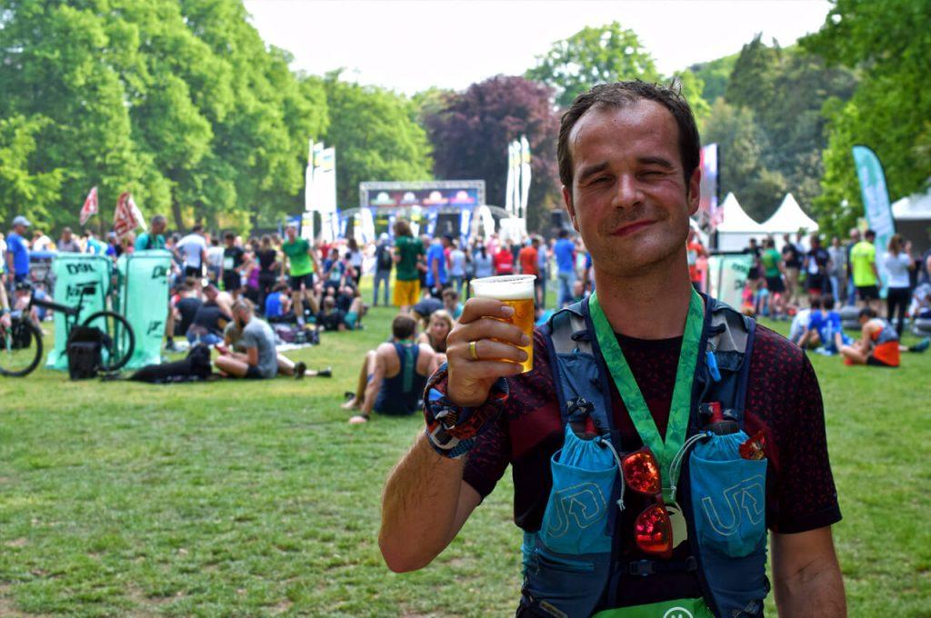 Ik heb wel een biertje verdiend na afloop van de Marikenloop 2019