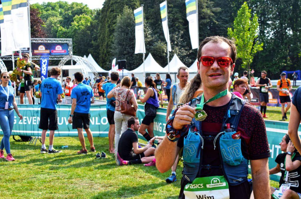 De trailrun-editie medaille van de Marikenloop 2019