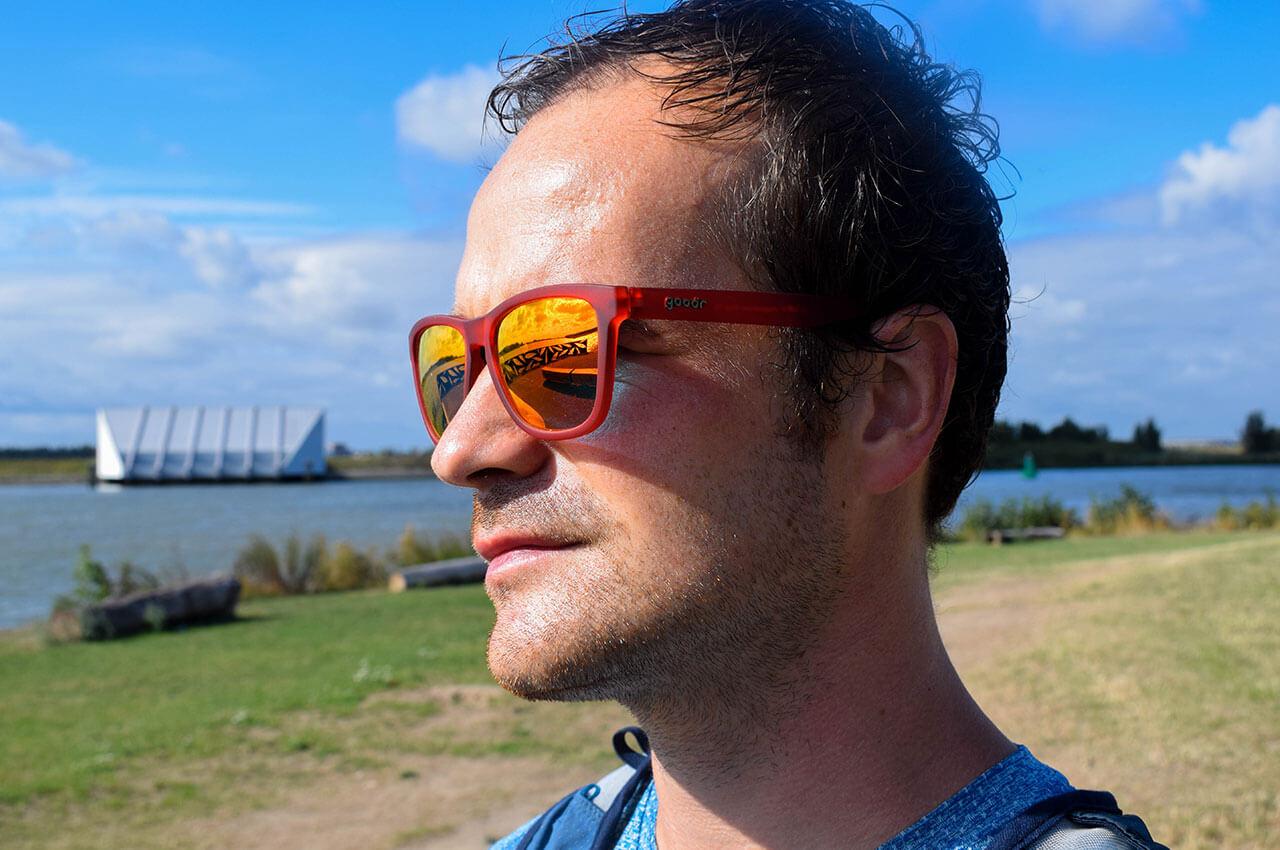 Motivatie om te gaan hardlopen, ik met zonnebril
