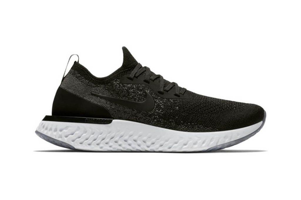 De stijlvolle Nike Epic React in de zwarte uitvoering