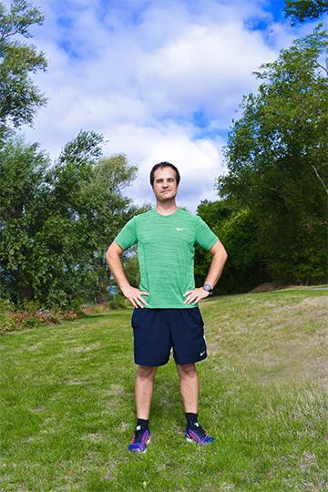 Wim Groenendijk in een trailrun outfit