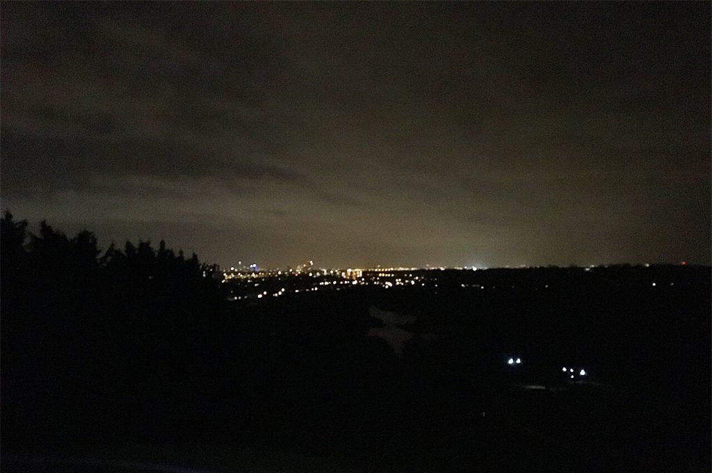 Uitzicht tijdens de Petzl Night Trail