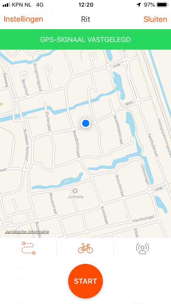 Activiteit opnemen met de Strava mobiele app