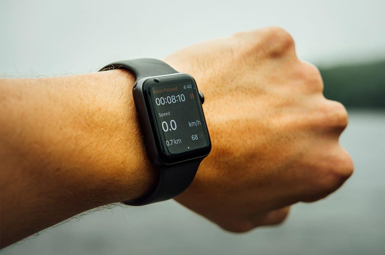 Smarthphone met Strava app