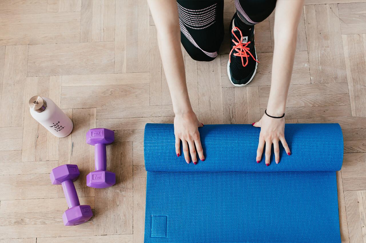 Thuis fitnessen om gezond en vitaal te blijven