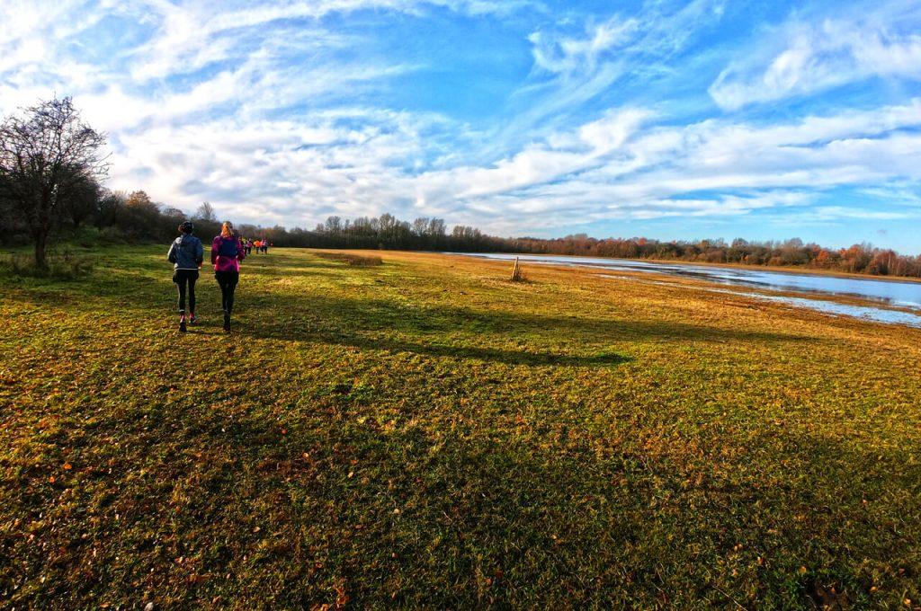 Hardlopen over het gras