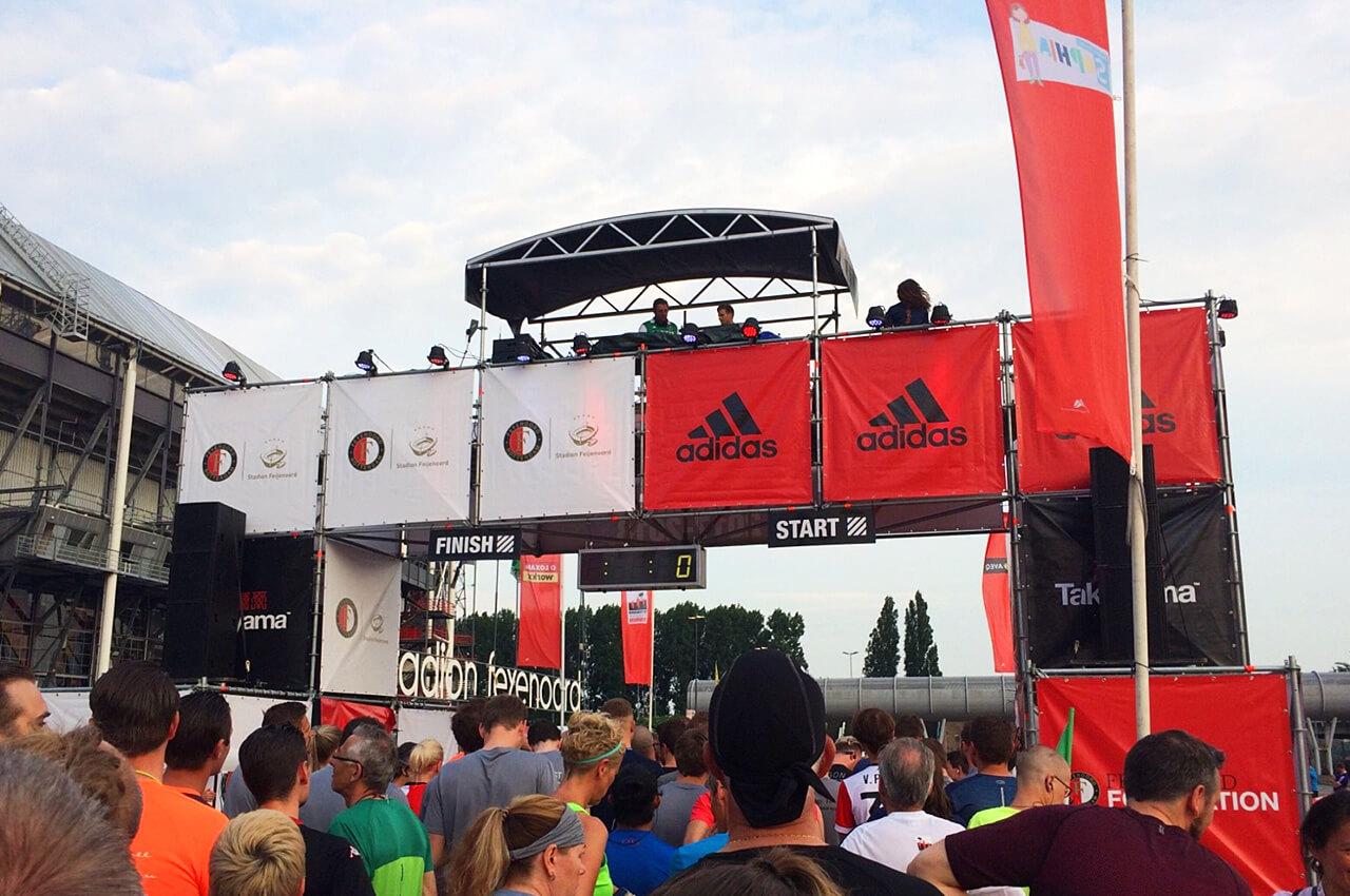 Start van de Feyenoord Foundation FunRun