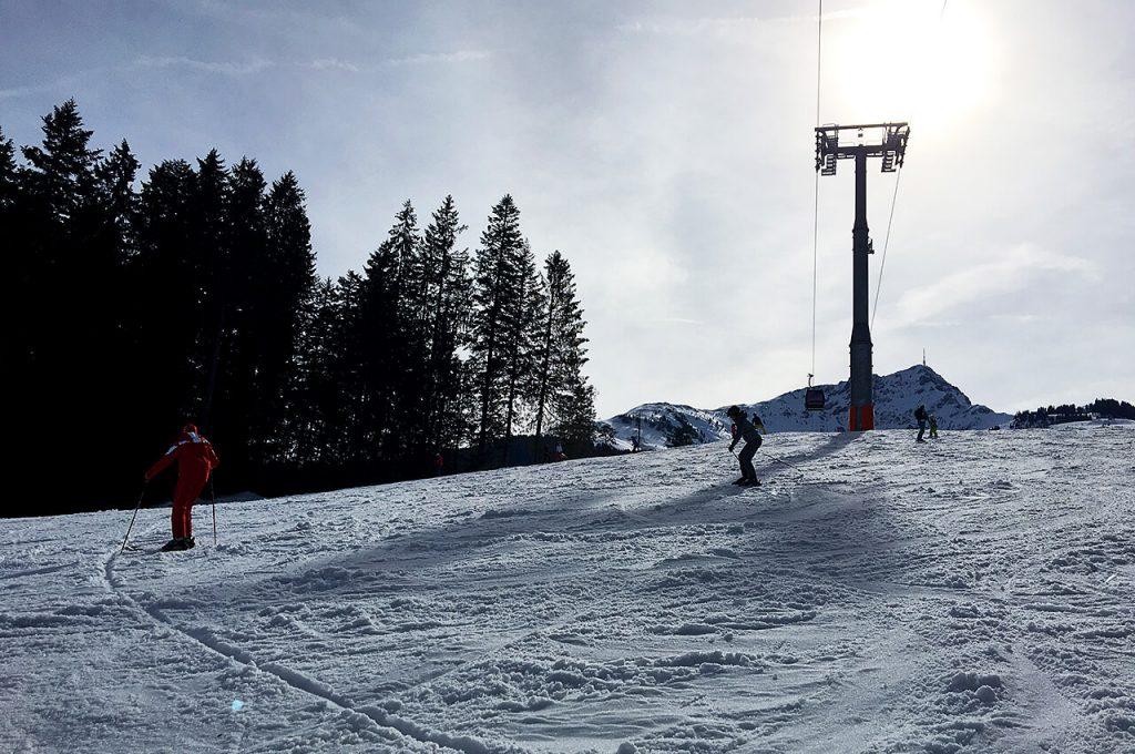 Wintersport met Gabriella aan het lessen