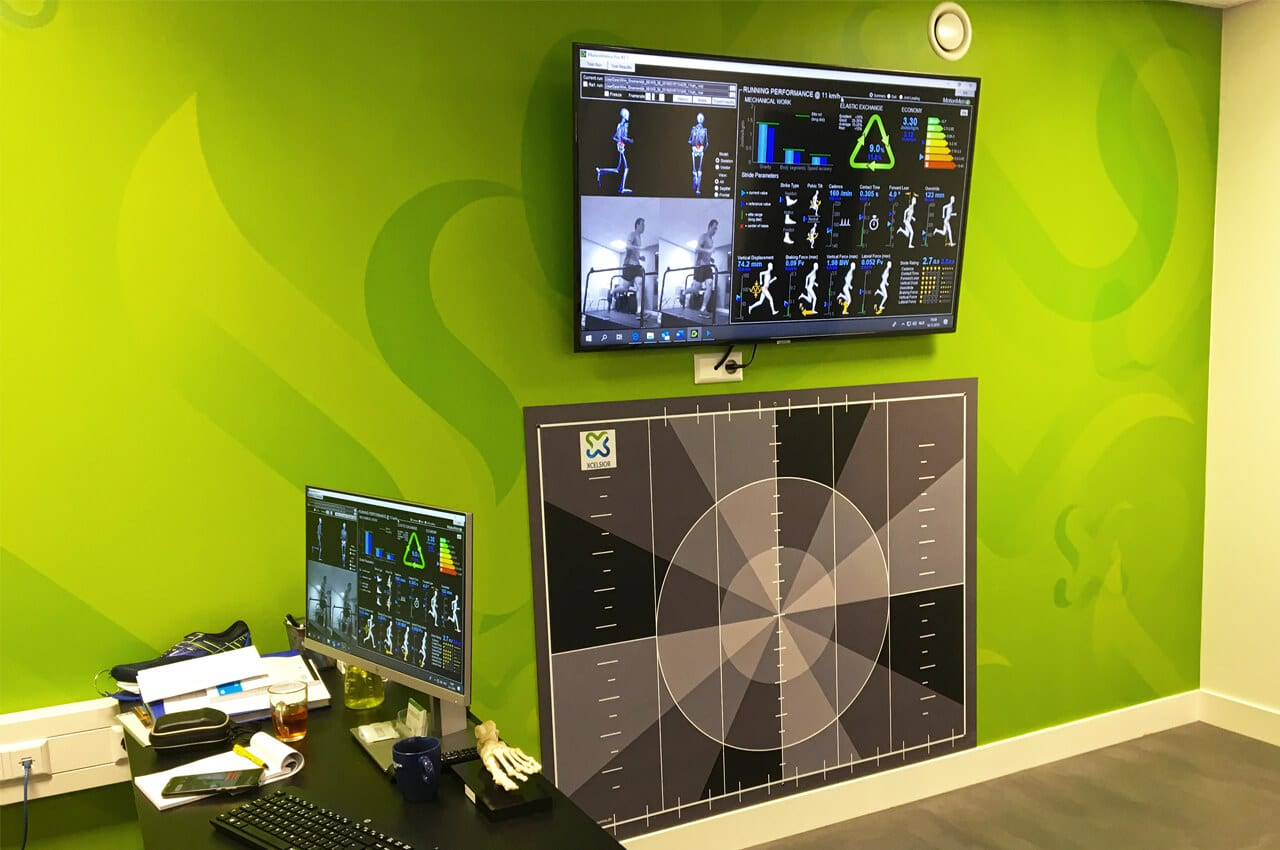 Xcelsior Motionlab met data op allerlei schermen